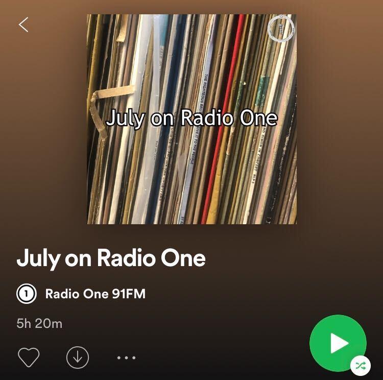 July on Radio One.