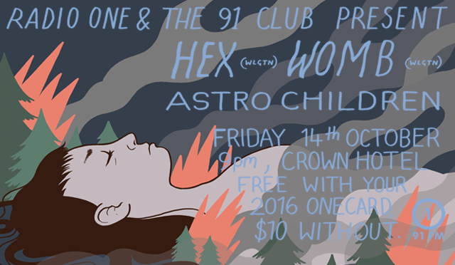 The 91 Club presents: Hex, Womb, and Astro Children